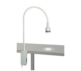 Lámpara de exploración EL 3 LED con fijación por mordaza HEINE
